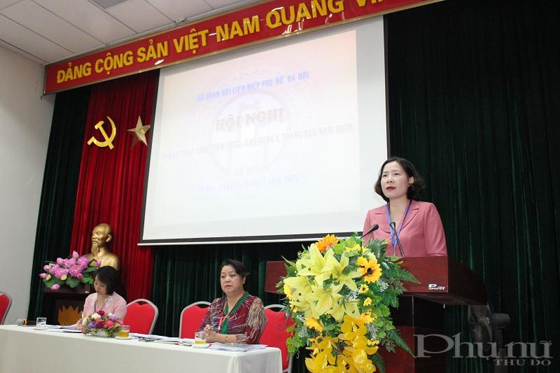 Đồng chí Lê Kim Anh- Bí thư Đảng đoàn- Chủ tịch Hội LHPN Hà Nội phát biểu kết luận hội nghị