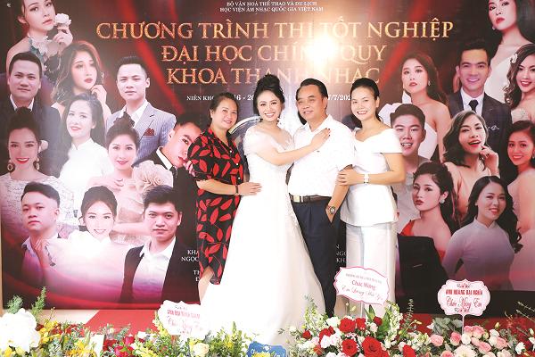 Gia đình Lương Hải Yến luôn bên cô trong sự nghiệp