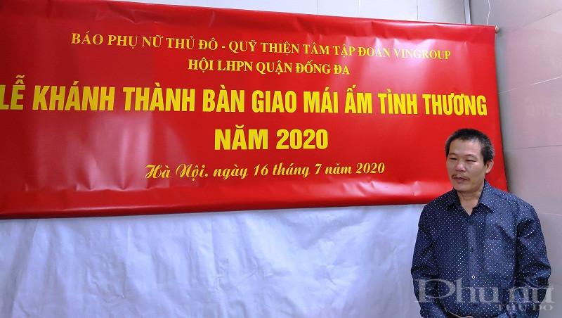 Đại diện gia đình là ông Đỗ Quốc Hưng, người con trái út hiện đang sống cùng bà Hoàng Thị Hương xúc động cảm ơn Báo PNTĐ, Hội LHPN các cấp đã quan tâm hỗ trợ đến gia đình trong thời gian qua