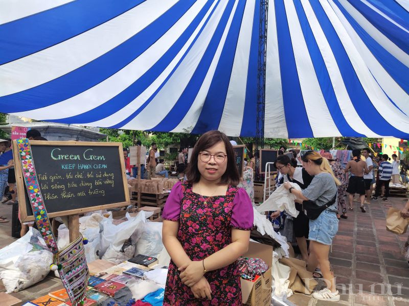 Chị Chu Thanh Loan- Chủ tịch Hội LHPN phường Ngọc Hà.