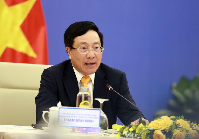Phó Thủ tướng, Bộ trưởng Ngoại giao Phạm Bình Minh đề nghị Trung Quốc tạo điều kiện để hoạt động thương mại Việt - Trung, trong đó có thương mại biên giới được triển khai thuận lợi. Ảnh: VGP/Hải Minh