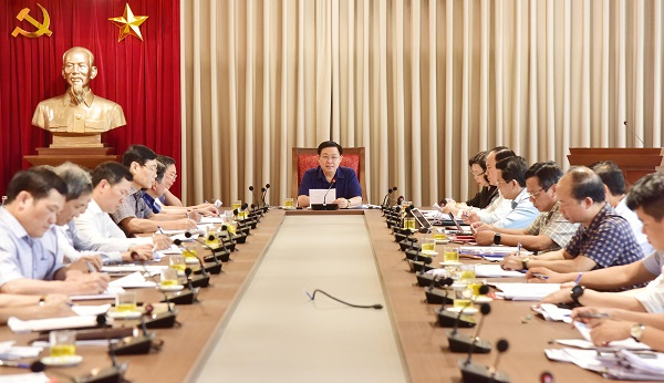 Bí Thư Thành ủy Hà Nội Vương Đình Huệ chủ trì Hội nghị