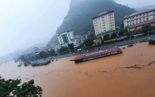 Mưa lũ tại Hà Giang diễn biến bất thường.