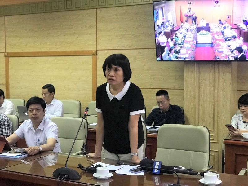 PGS.TS Lê Thị Quỳnh Mai - Phó Viện trưởng Viện Vệ sinh dịch tễ Trung ương thông tin tại cuộc họp.