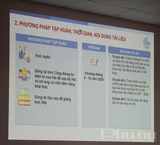 Bộ tài liệu được hoàn thiện sẽ được Trung ương Hội LHPN Việt Nam tập huấn theo hình thức trực tuyến