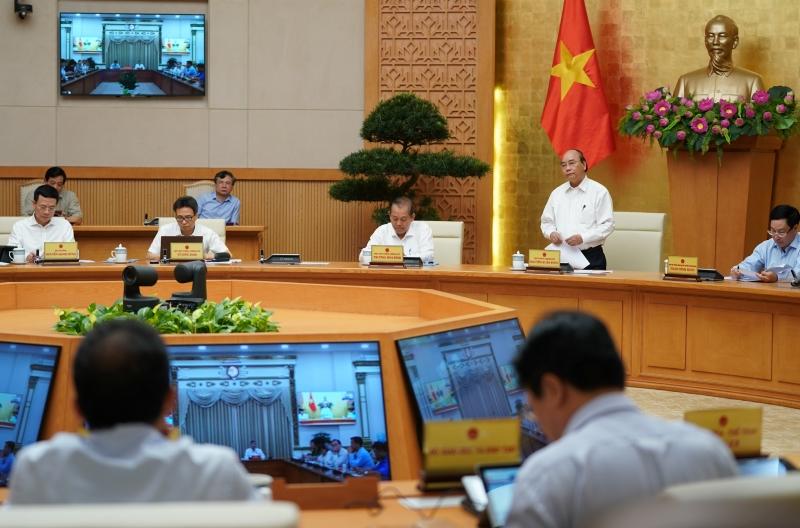 Quang cảnh cuộc họp của Thường trực Chính Phủ ngày 25/7.