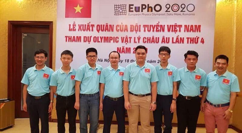 Đội tuyển Việt Nam tham dự kì thi Olympic Vật lý châu Âu năm 2020.