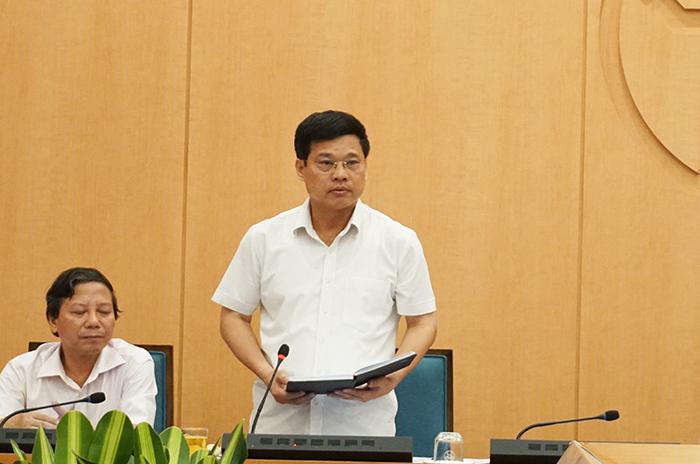 Đồng chí Ngô Văn Quý phát biểu tại cuộc họp