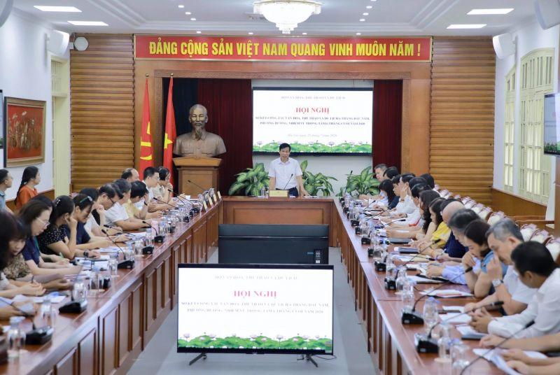 Bộ trưởng Bộ VHTT&DL Nguyễn Ngọc Thiện phát biểu chỉ đạo hội nghị. Ảnh: VGP/Nhật Nam