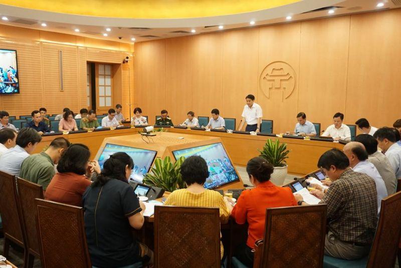 Chủ tịch UBND TP Hà Nội phát biểu tại Hội nghị.