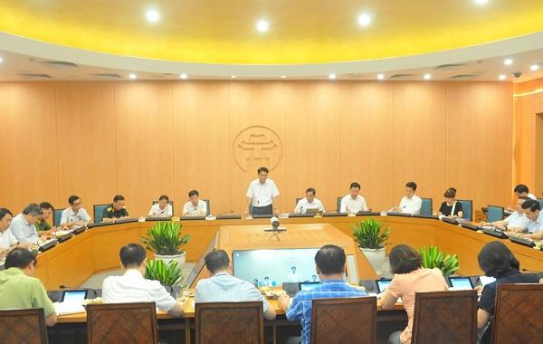 Chủ tịch UBND Thành phố Hà Nội Nguyễn Đức Chung chủ trì Hội nghị
