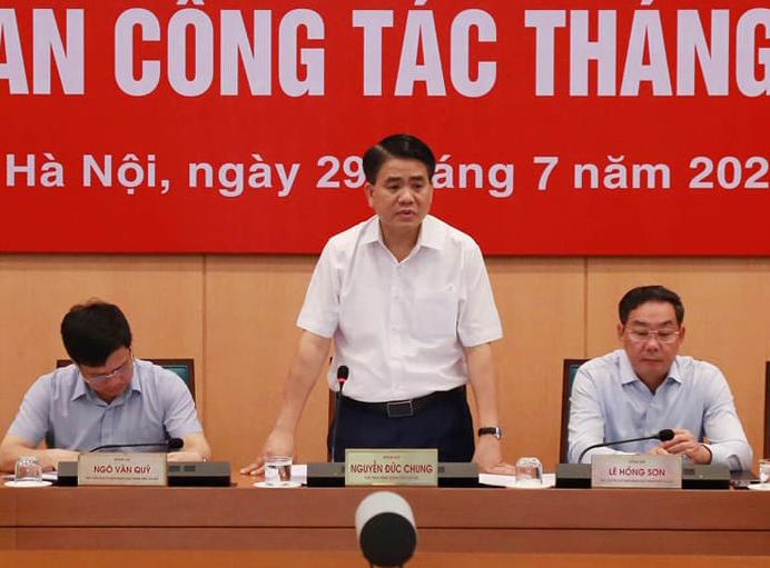 Chủ tịch UBND Thành phố Hà Nội phát biểu chỉ đạo.