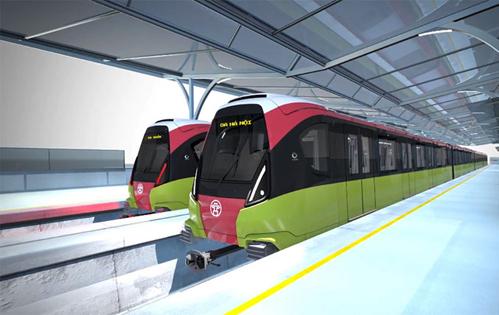 Mô hình tàu đường sắt đô thị tuyến số 3.