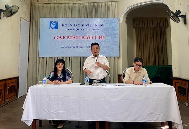 Hội Nhạc sĩ Việt Nam tổ chức họp báo công bố về Đại hội Đại biểu toàn quốc Hội Nhạc sĩ Việt Nam lần thứ 10. Ảnh: VGP/Nhật Nam