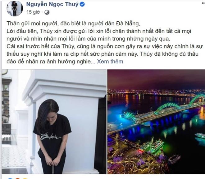 Tài khoản Nguyễn Ngọc Th. đã đăng tải lời xin lỗi