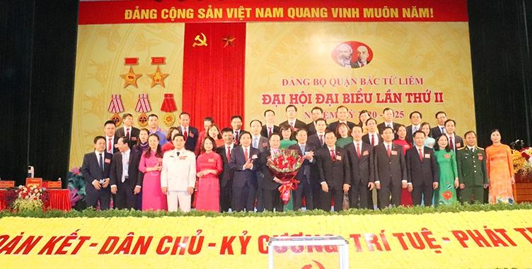 Ban Chấp hành Đảng bộ quận Bắc Từ Liêm ra mắt đại hội