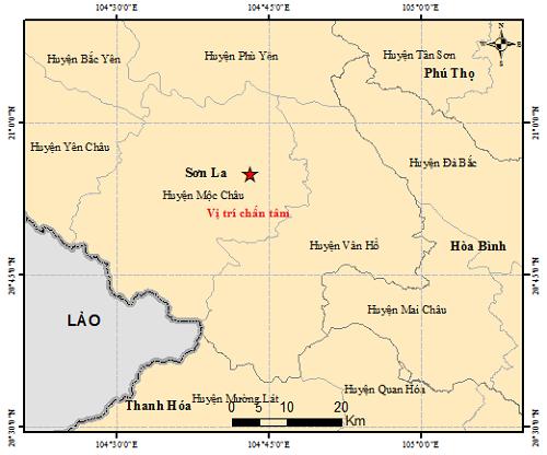 Bản đồ tâm chấn động đất