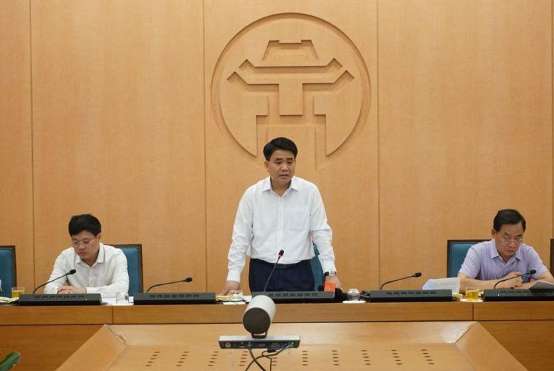 Chủ tịch UBND TP Hà Nội chủ trì cuộc họp