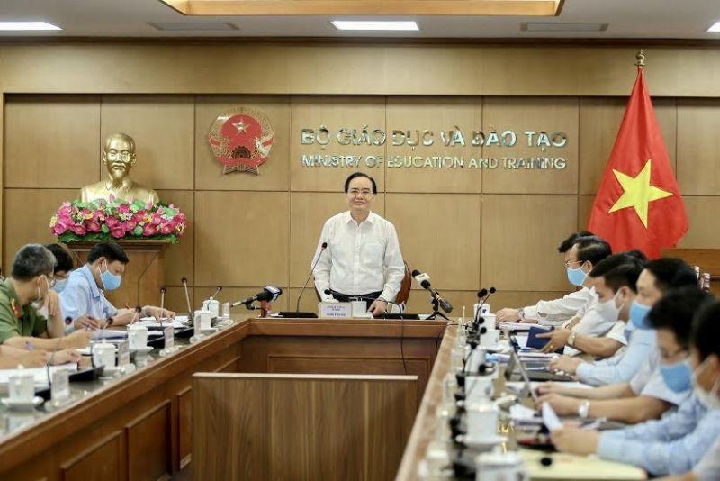 Hội nghị trực tuyến Ban chỉ đạo quốc gia về thi tốt nghiệp THPT năm 2020 với các địa phương. Ảnh: VGP/Nhật Nam