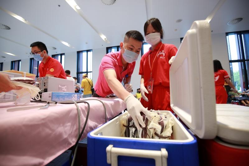 Những đơn vị máu quý giá thu được trong chương trình