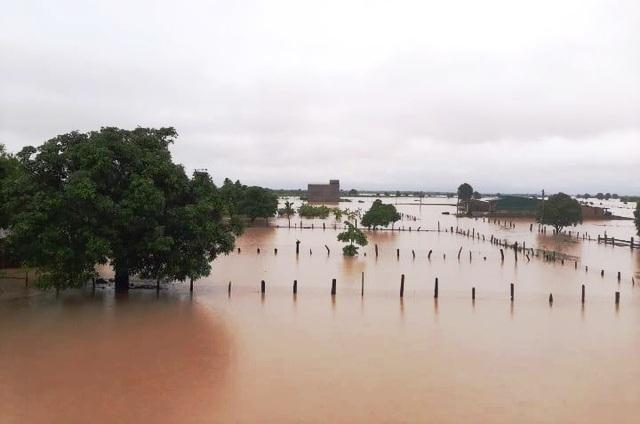 Ngập úng khiến nhiều khu vực tại Đắk Lắk bị ngập úng.
