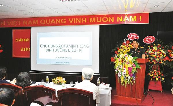 TS. BS Phạm Đức Minh – Chủ nhiệm Bộ môn, Khoa Dinh dưỡng Bệnh viện Quân y 103, Học viện Quân y chia sẻ vai trò của axit amin trong dinh dưỡng.