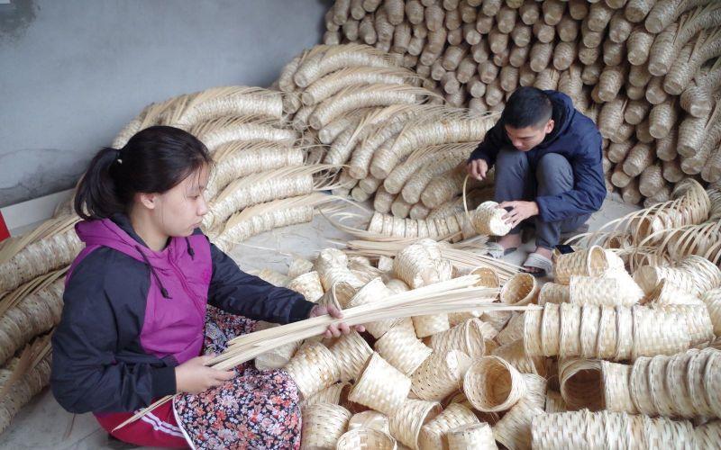 Làng nghề mây tren đan Ninh Sở