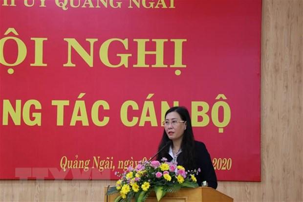 Đồng chí Bùi Thị Quỳnh Vân phát biểu tại hội nghị. Ảnh: TTXVN