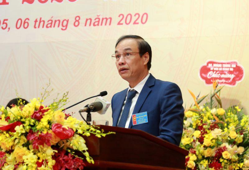 Phó Bí thư Thành ủy Đào Đức Toàn phát biểu tại đại hội.