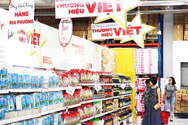 Các thương hiệu hàng hóa Việt đang chiếm ưu thế trong các siêu thị trong nước