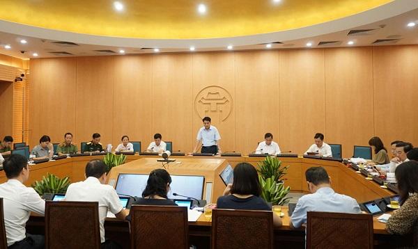 Chủ tịch UBND TP Nguyễn Đức Chung chủ trì cuộc họp Ban chỉ đạo