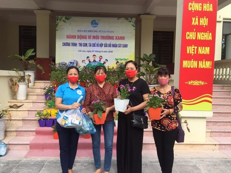 Cán bộ hội viên phụ nữ xã Cổ Loa tích cực tham gia chương trình