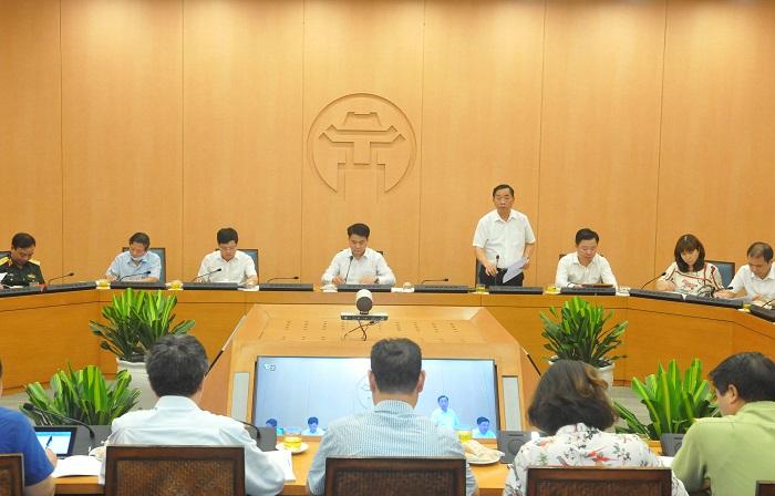Giám đốc Sở Y tế Hà Nội phát biểu