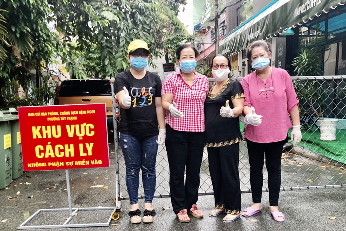 Hội LHPN Phường Tây Thạnh (Tân Phú, TPHCM) quyết tâm cùng cả nước chống dịch Covid-19. Ảnh Hội LHPN phường Tây Thạnh