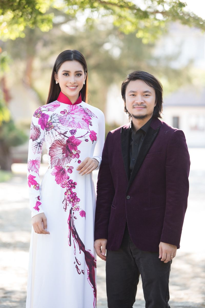 Hoa hậu Trần Tiểu Vy và đạo diễn Trần Nhật Nam