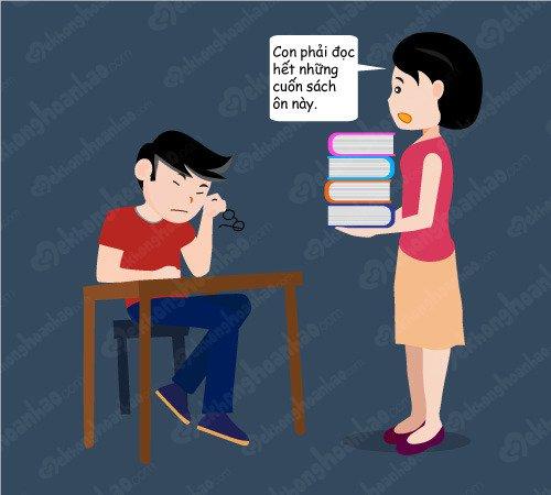 Cha mẹ đừng tạo áp lực cho con trong mùa thi