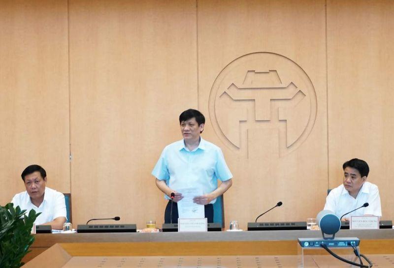Bộ Y tế làm việc với BCĐ phòng, chống dịch Hà Nội.