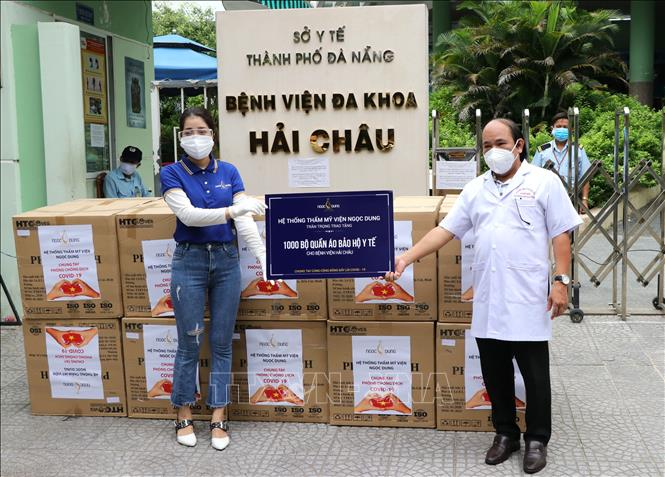 Các cơ sở y tế đã nhận 7.000 bộ đồ bảo hộ y tế.