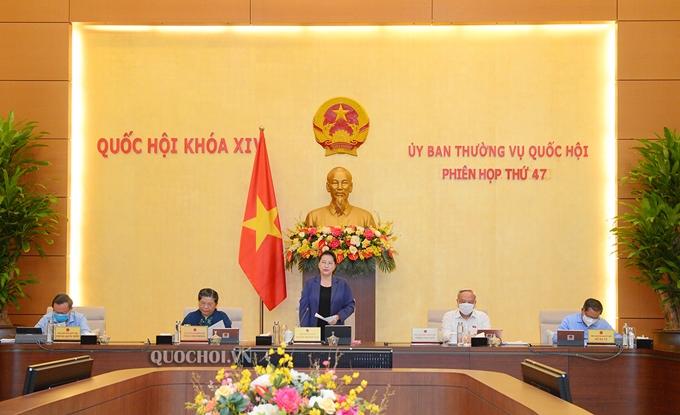 Chủ tịch Quốc hội Nguyễn Thị Kim Ngân phát biểu khai mạc phiên họp (Ảnh: quochoi.vn)