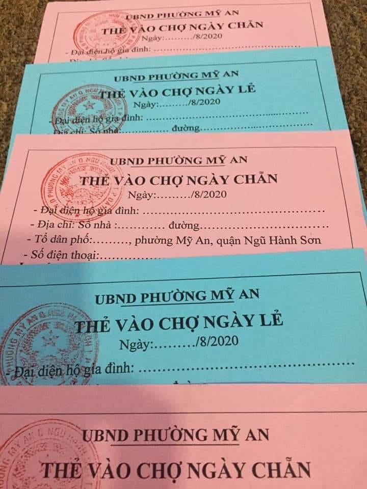 Phiếu đi chợ cho người dân Đà Nẵng những ngày quyết chiến với dịch Covid-19
