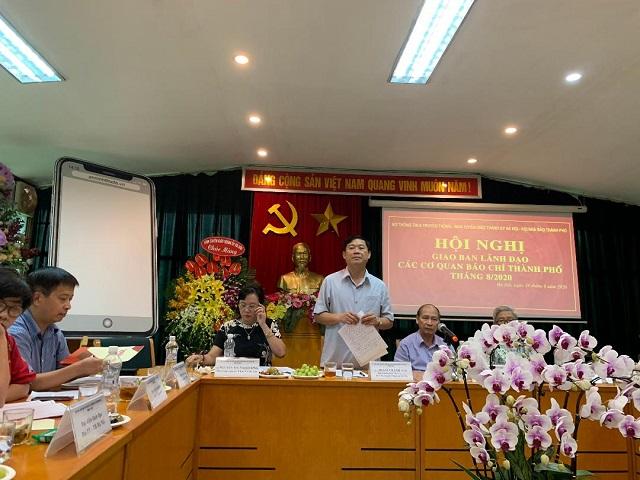 Đồng chí PHạm Thanh Học - Phó Trưởng ban thường trực Ban Tuyên giáo Thành ủy Hà Nội phát biểu chỉ đạo Hội nghị.