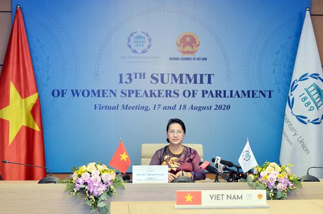 Chủ tịch Quốc hội Nguyễn Thị Kim Ngân tại Hội nghị