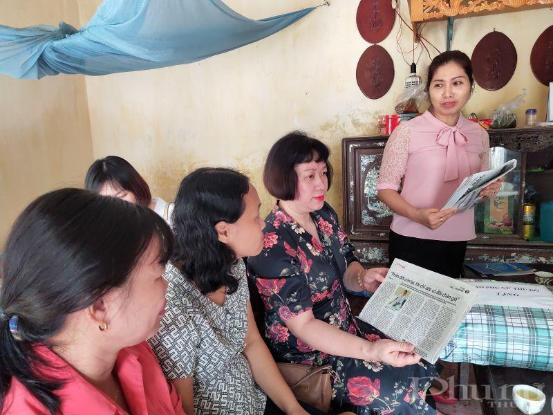 Đồng thời Đoàn công tác Báo Phụ nữ Thủ đô mong muốn các cấp Hội Phụ nữ của huyện Gia Lâm, Hội LHPN  xã Yên Thường tiếp tục đồng hành cùng với báo , đọc và sử dụng báo Hội hiệu quả