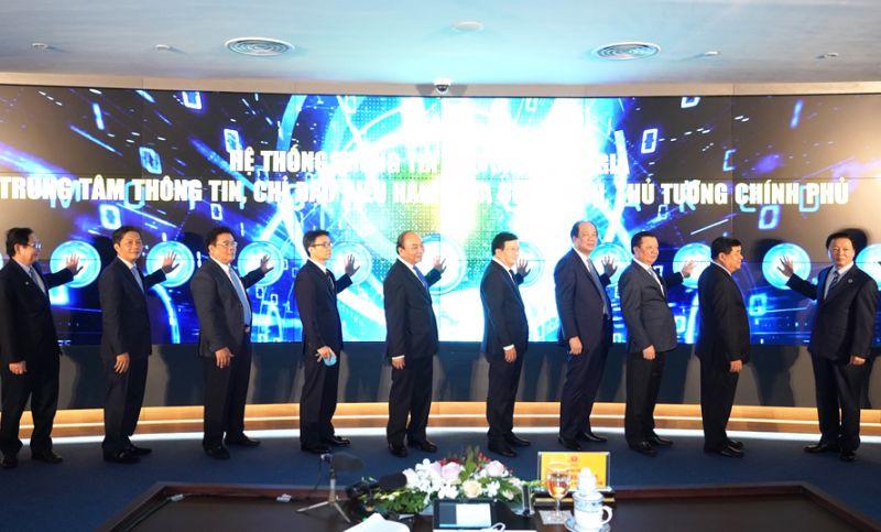 Nghi thức khai trương Hệ thống thông tin báo cáo quốc gia, Trung tâm Thông tin, chỉ đạo điều hành của Chính phủ, Thủ tướng Chính phủ.