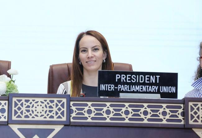 Chủ tịch Liên minh Nghị viện Thế giới abriela Cuevas Barron. Ảnh: IPU