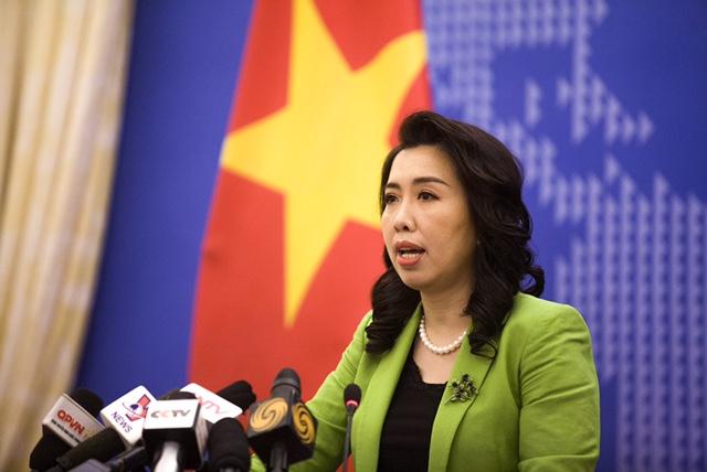 Người phát ngôn Bộ Ngoại giao Lê Thị Thu Hằng tại họp báo chiều 20-8.