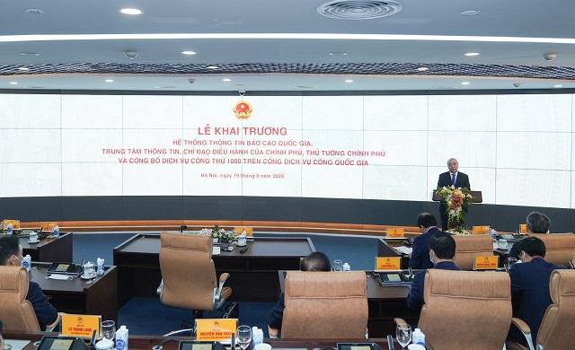 Thủ tướng Chính phủ dự lễ công bố hệ thống thông tin