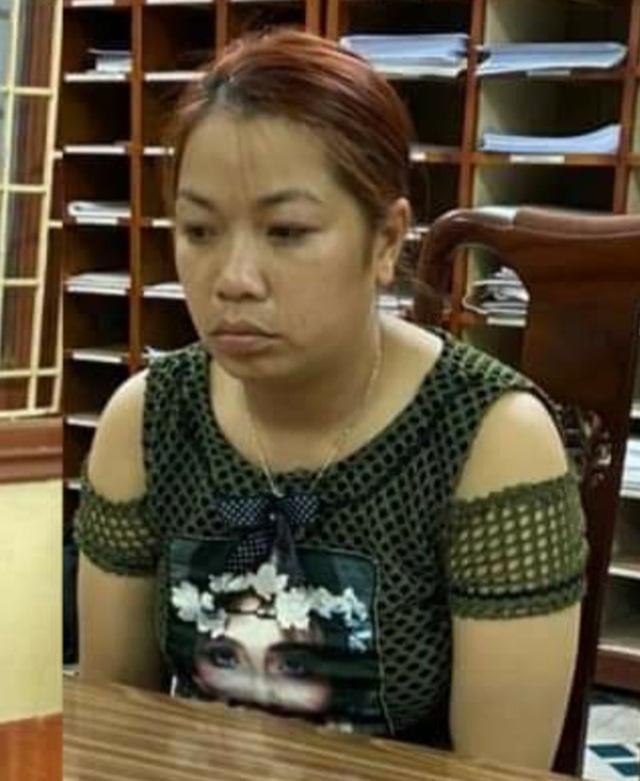 Đối tượng Nguyễn Thị Thu tại cơ quan điều tra