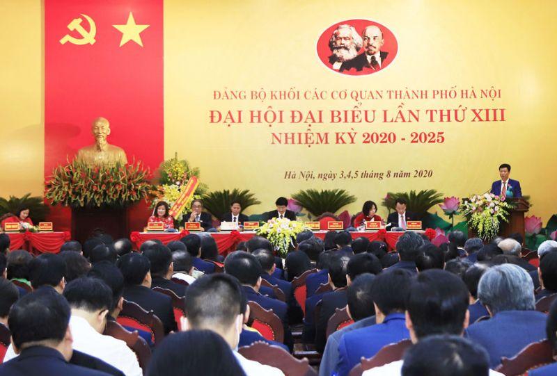 Đại hội đại biểu lần thứ XIII (nhiệm kỳ 2020-2025) Đảng bộ Khối các cơ quan thành phố Hà Nội. Ảnh: Viết Thành