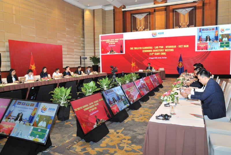 Các đại biểu tham gia hội nghị tại điểm cầu Hà Nội (Việt Nam). Ảnh: C.D